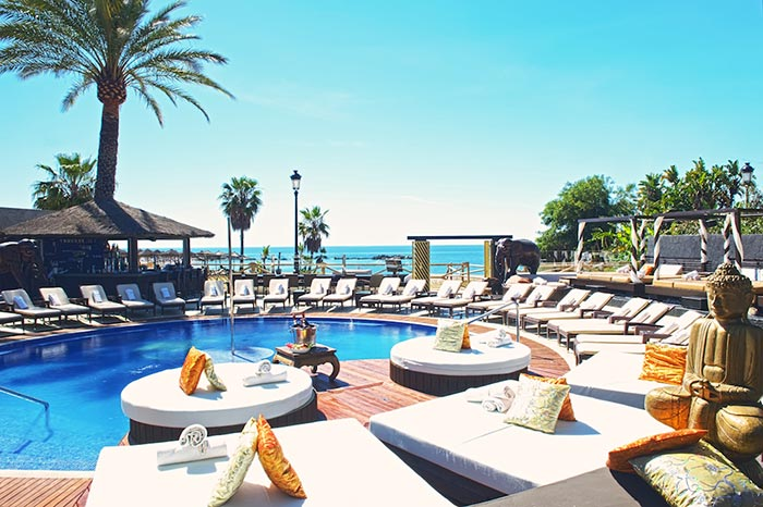 Pool Beds beach beds and pool beds in puerto banus - la salathe sea