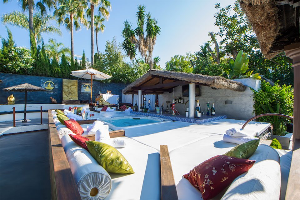 Luxury beach club in Marbella, La Sala