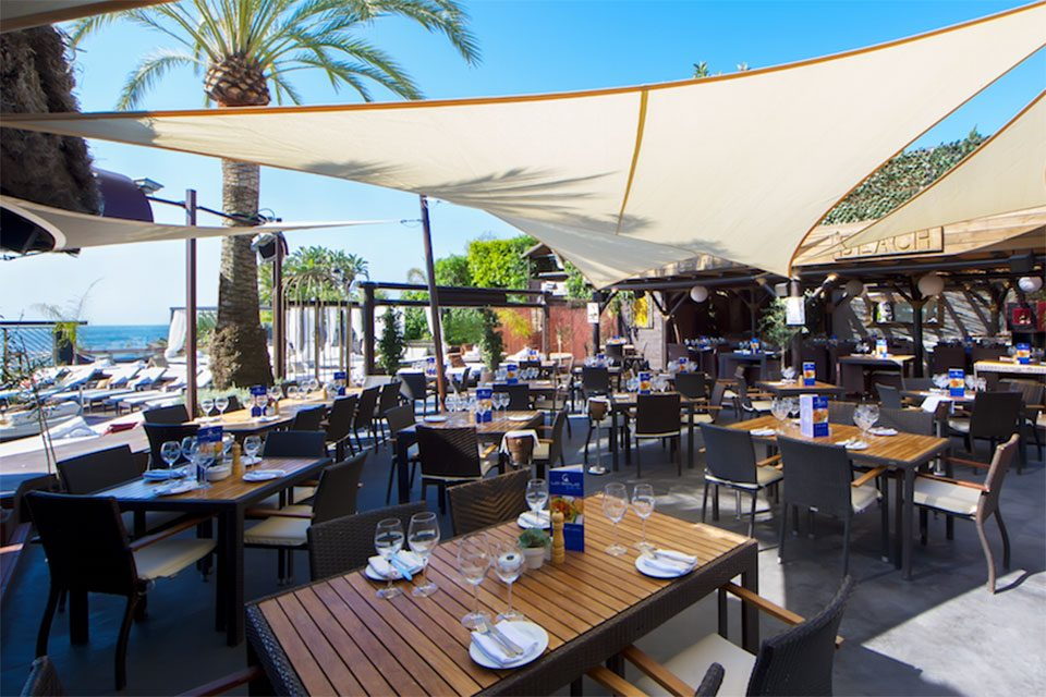 Beach club and restaurant, La Sala Puerto Banus