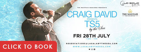 Craig David at La Sala by the Sea