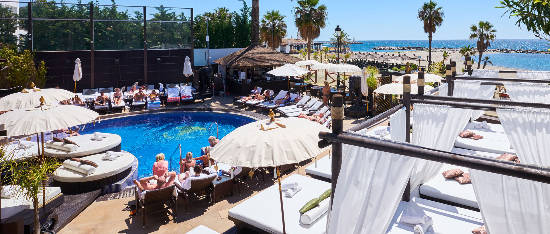 Pool parties at La Sala by the Sea in Puerto Banus