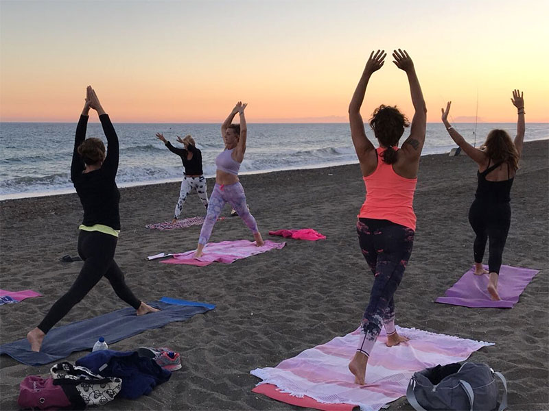 Weekly Beach Yoga is back at La Sala by the Sea!