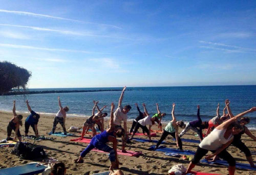 Yoga classes beachfront Puerto Banus
