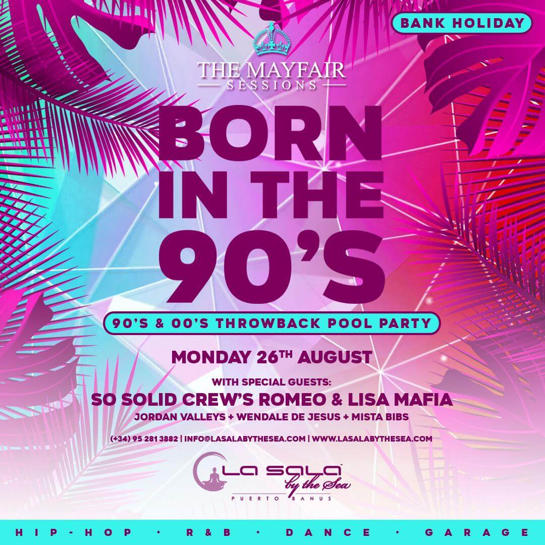 August bank holiday pool party in Marbella