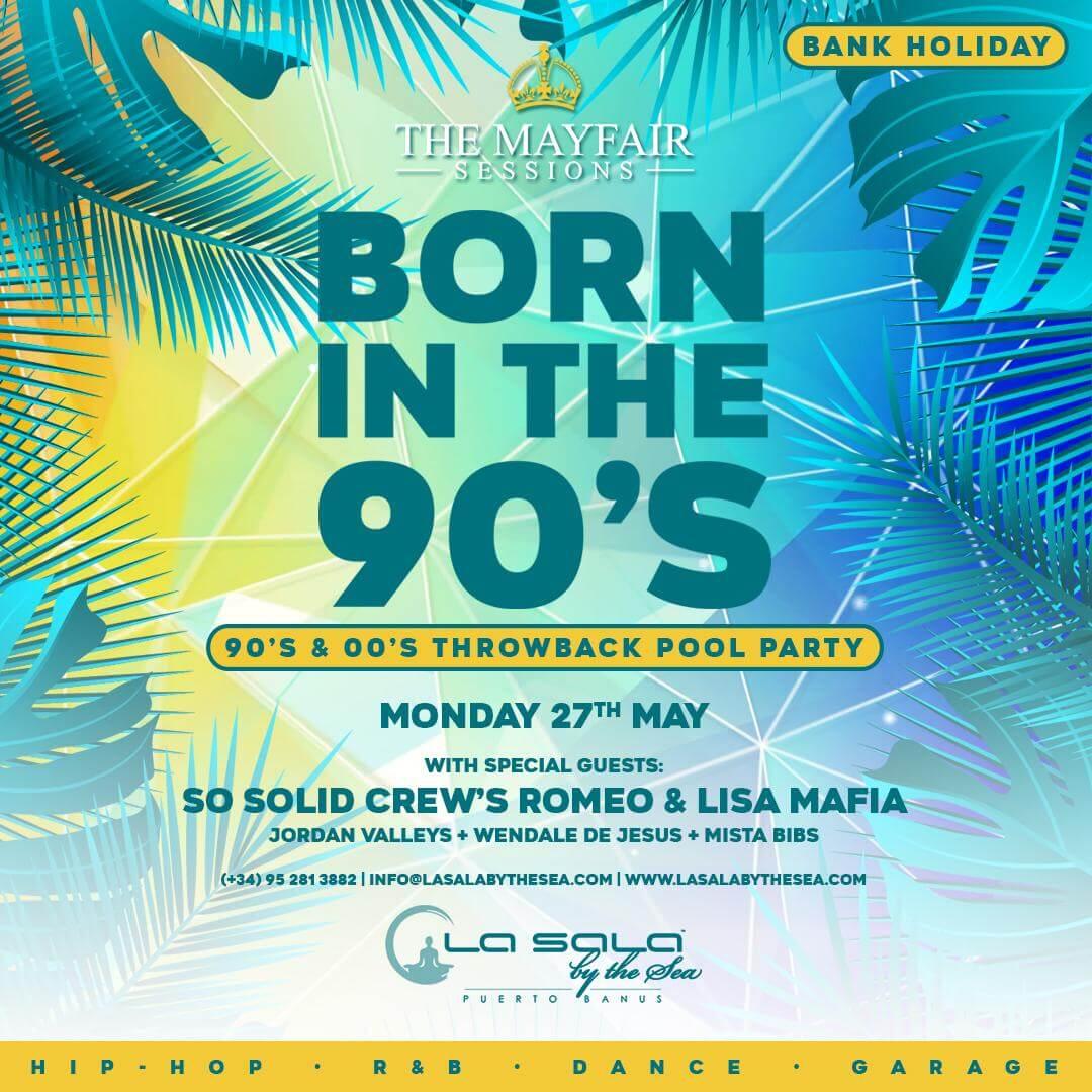 May bank holiday pool party in Marbella