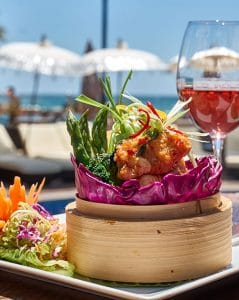 Beach club dining in Puerto Banus