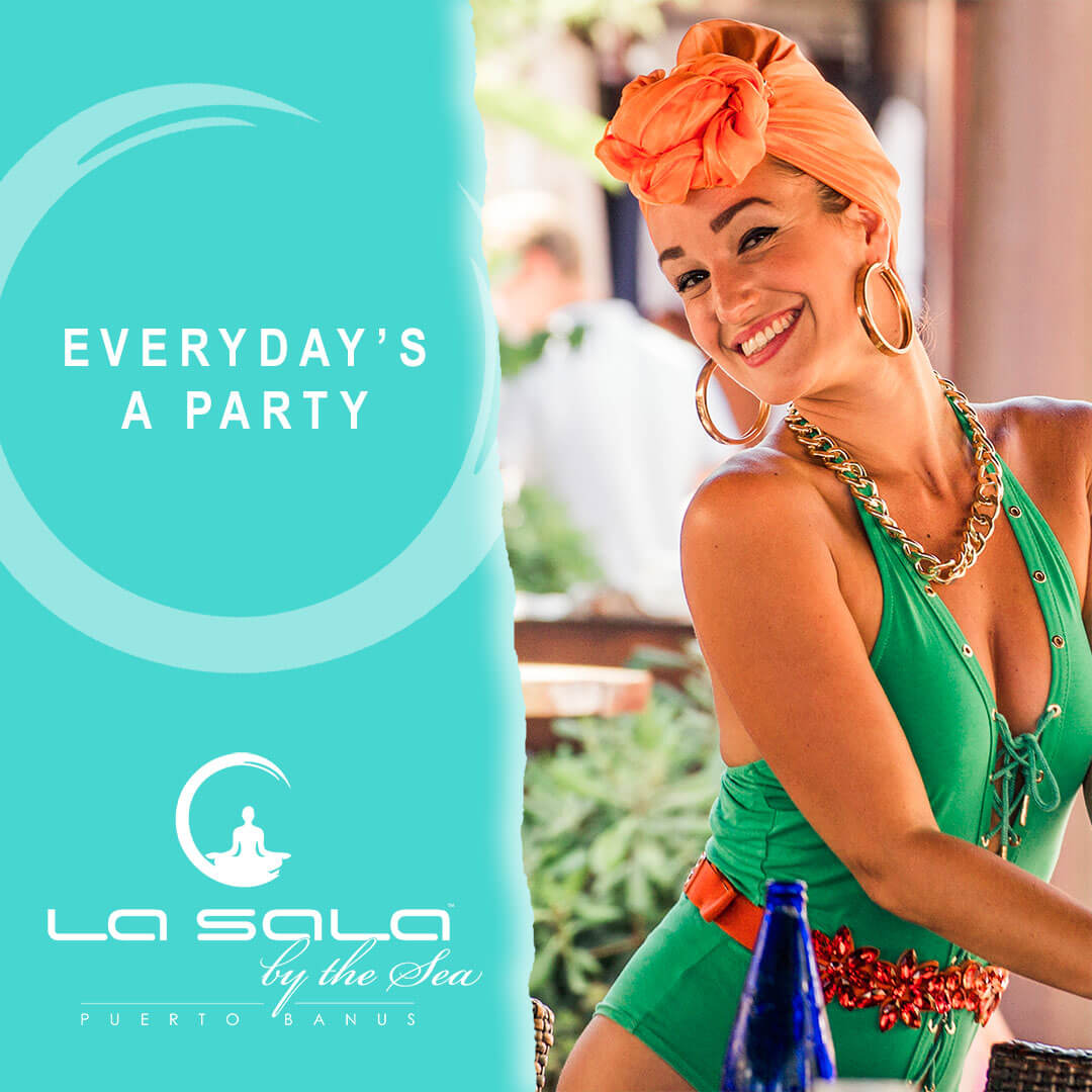 Everyday's a party at La Sala by the Sea, Marbella