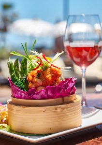 Beachfront dining in Marbella at La Sala
