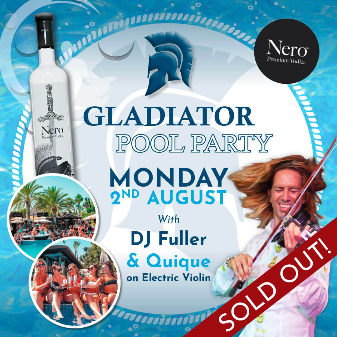Nero Gladiator Pool Party at La Sala by the Sea